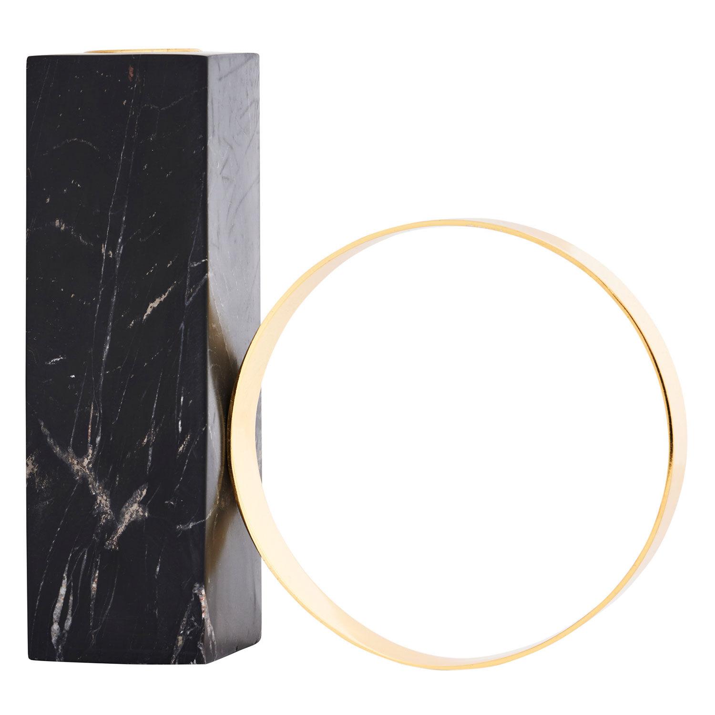 OYOY Tangent Kynttilänjalka 15x15,5cm, Musta