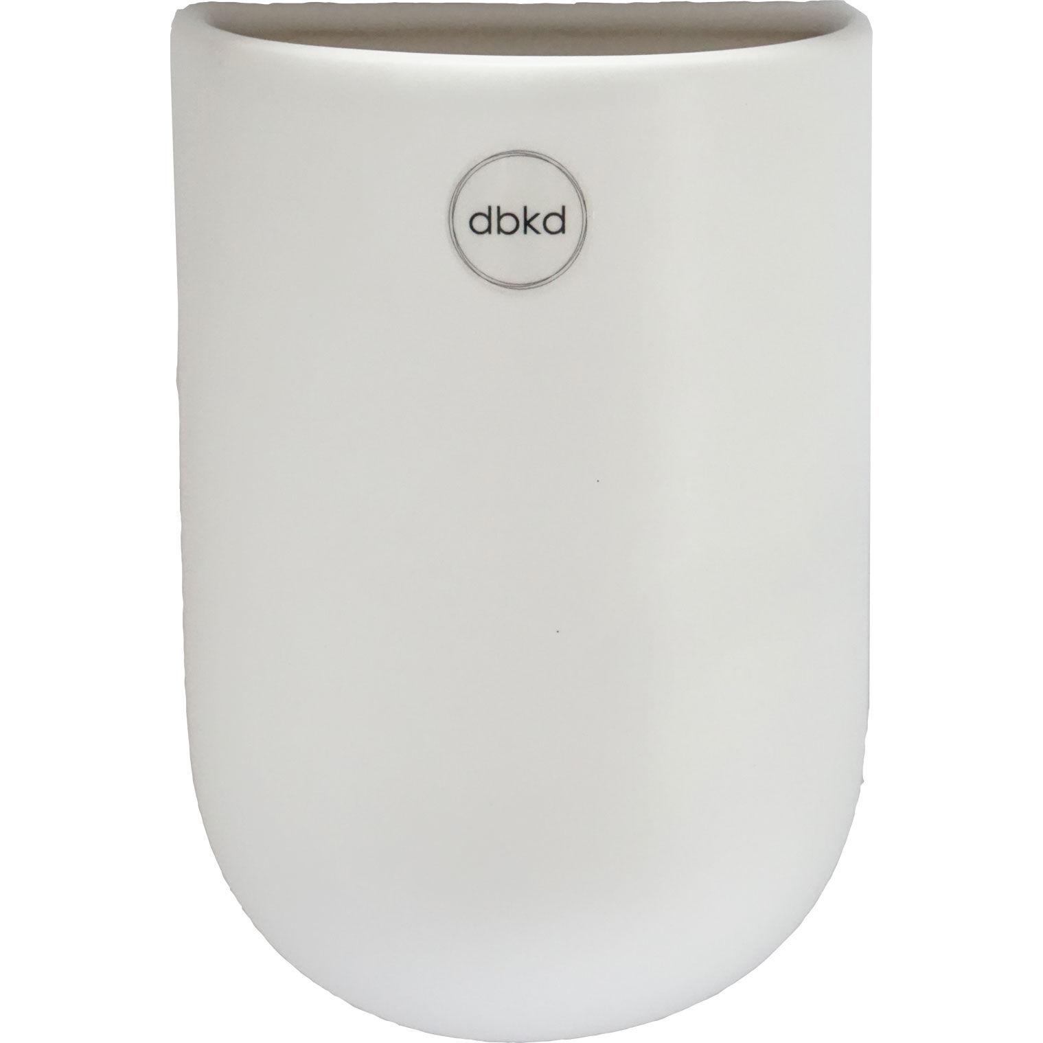 DBKD Cut Wall Pot Medium, White