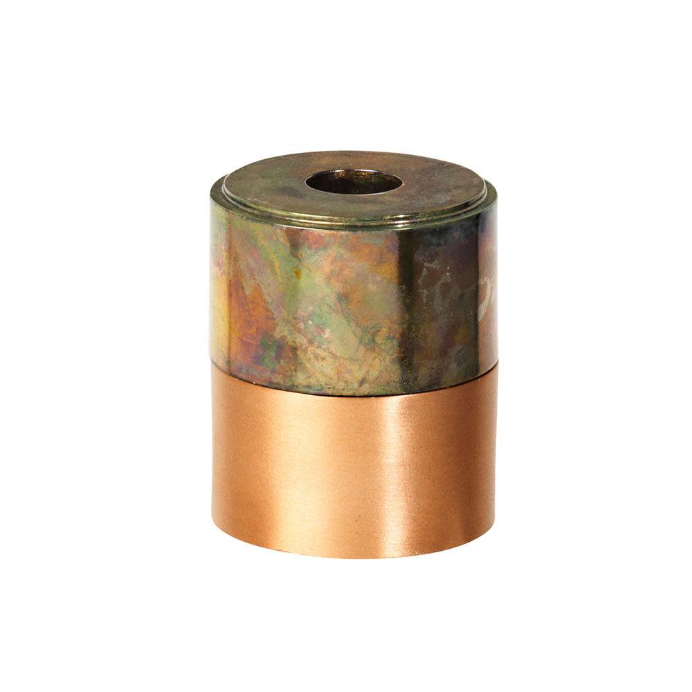 Broste Copenhagen Ritt Kynttilänjalka 8 cm, Rainbow Messinki/Kupari
