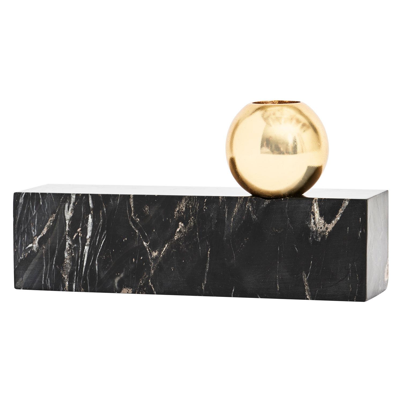 OYOY Tangent Kynttilänjalka 9,5x17cm, Musta