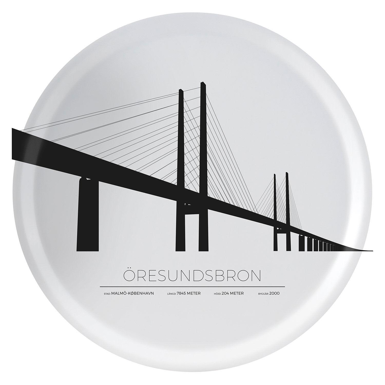 Sverigemotiv Öresundsbron Malmö/Köpenhamn Tarjotin 38cm