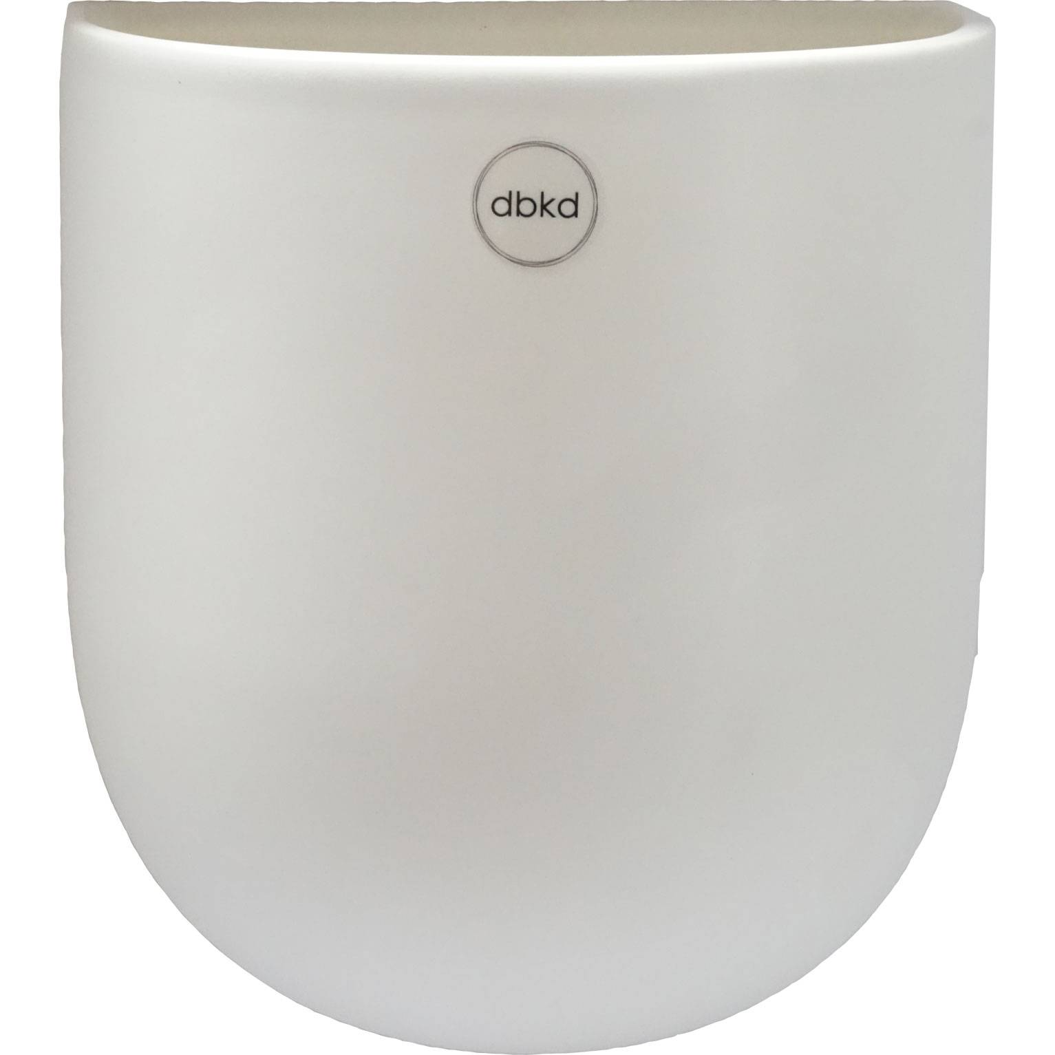 DBKD Cut Wall Pot Large, White
