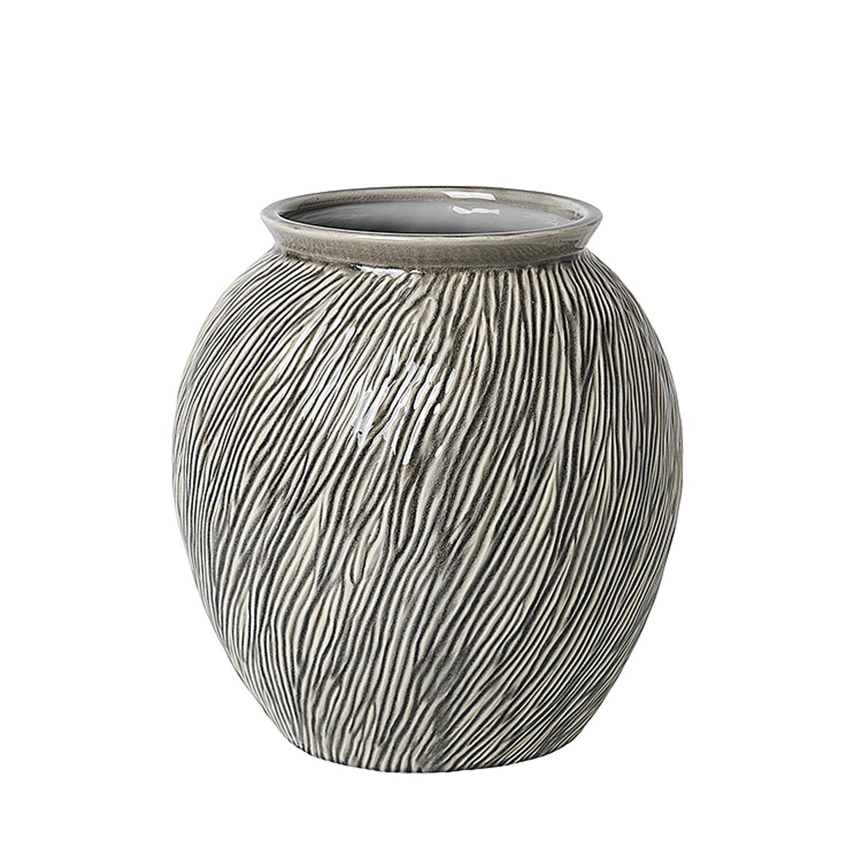 Broste Copenhagen Sandy Vase Ø30 cm, Smoked Pearl