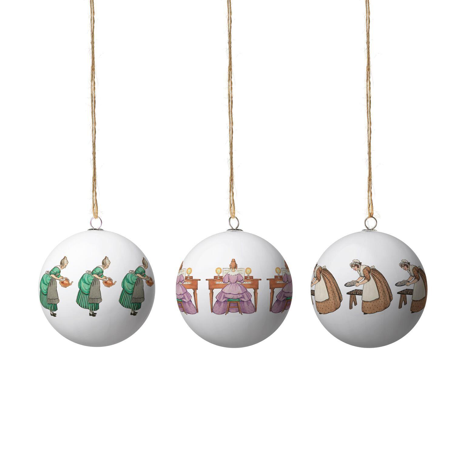 Design House Elsa Beskow Christmas Tree Ornaments, Aunts