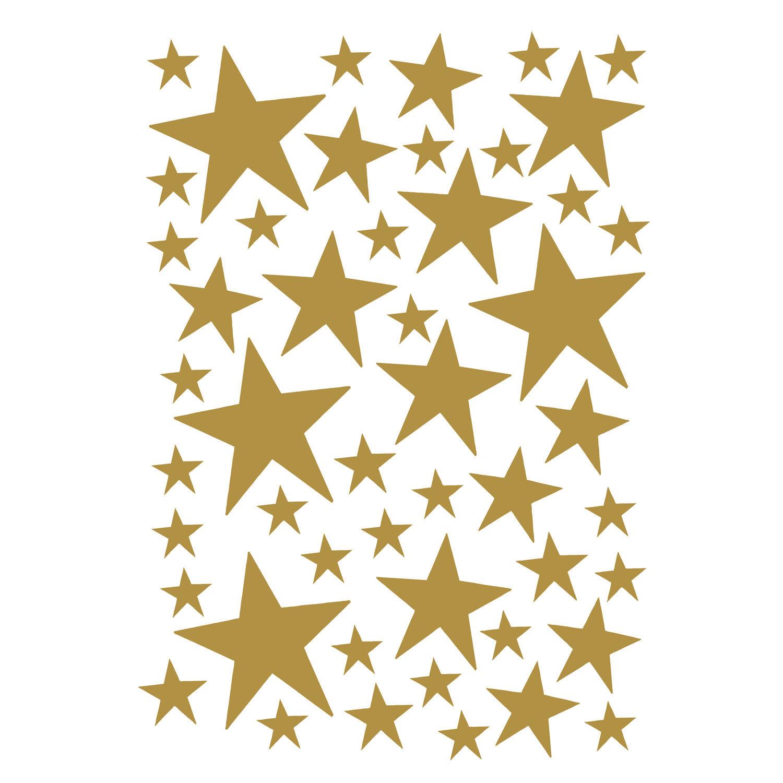 Ferm Living KIDS Mini Stars Wallsticker, Brass