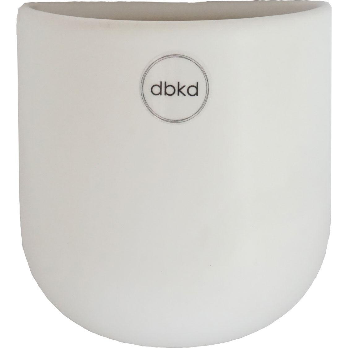 DBKD Cut Wall Pot Small, White
