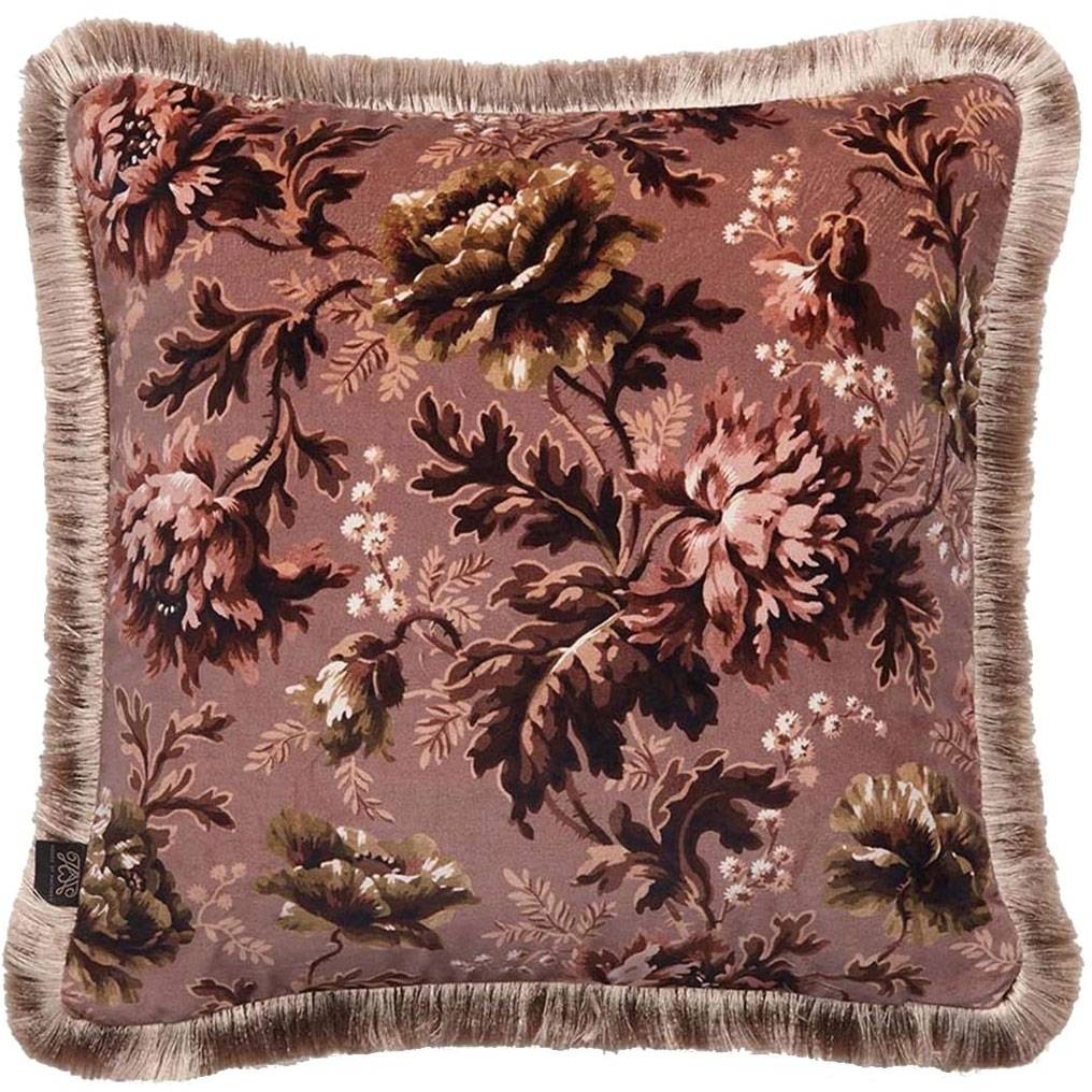 House of Hackney Opia Cushion with Fringes Medium, Old Rose