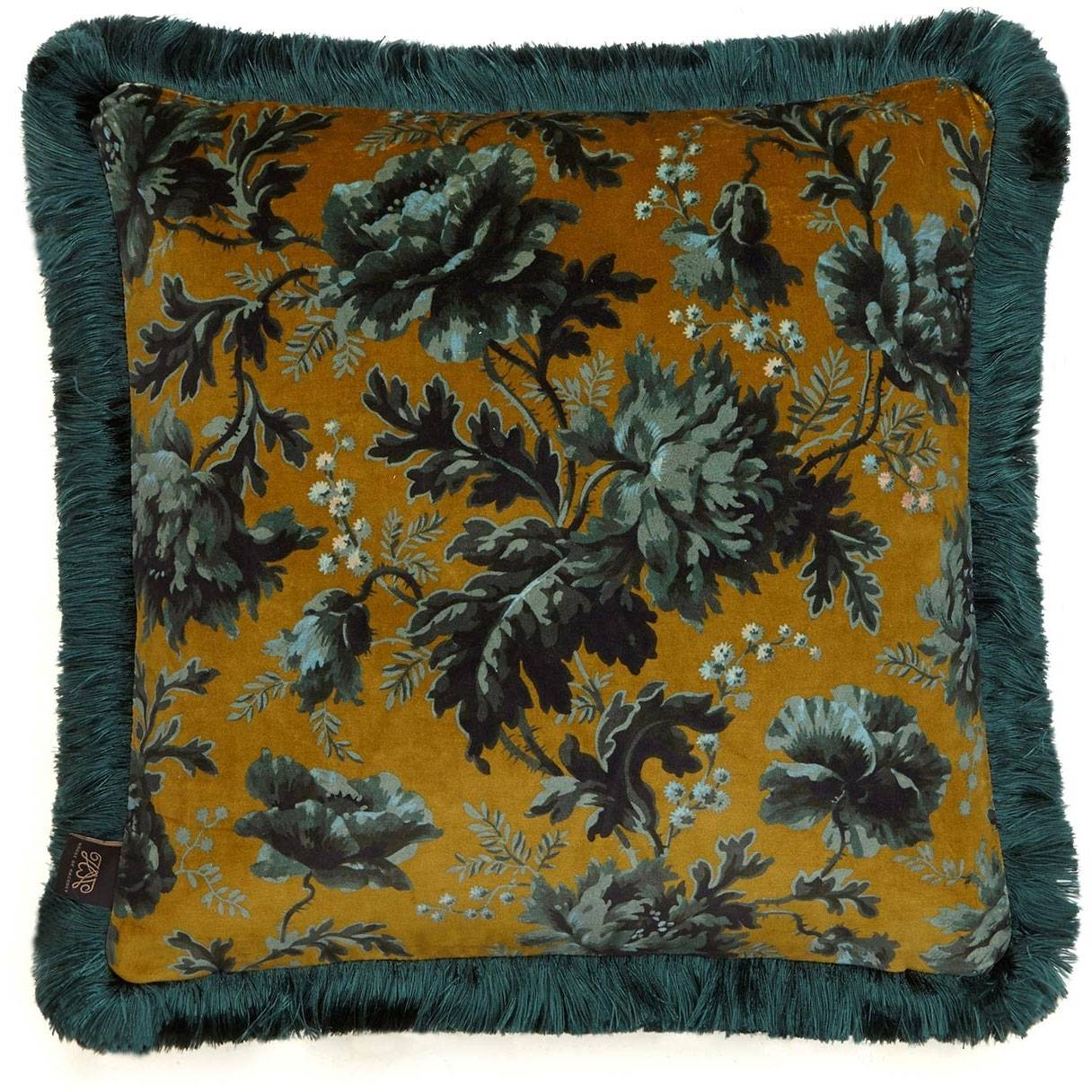 House of Hackney Opia Cushion with Fringes Medium, Bronze