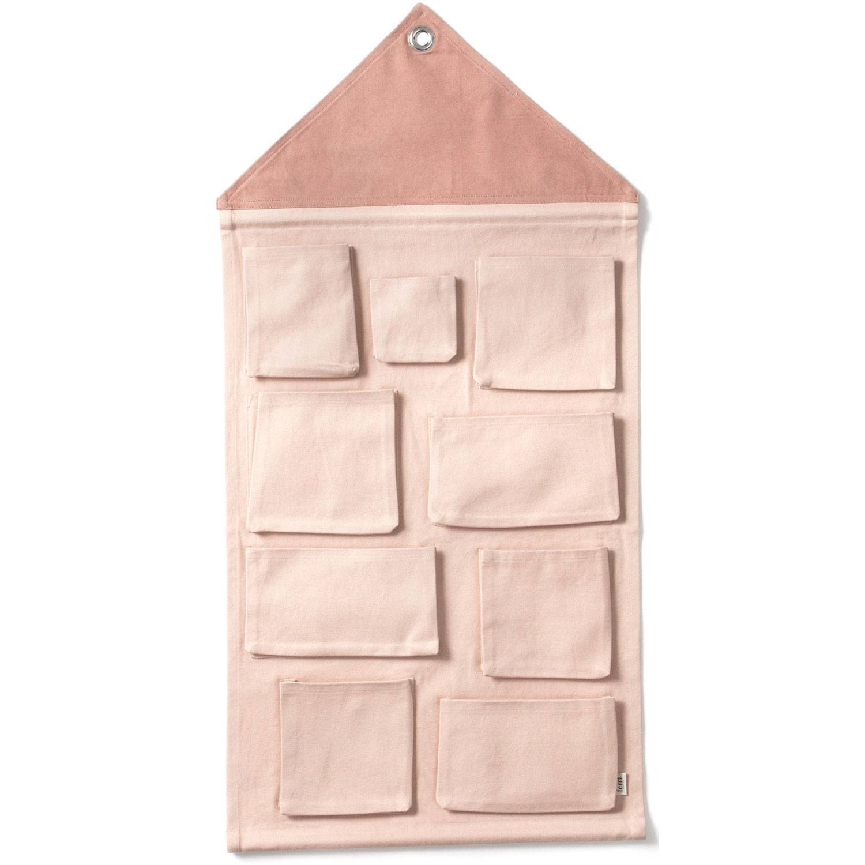 Ferm Living KIDS House Seinäsäilytys, Vaaleanpunainen