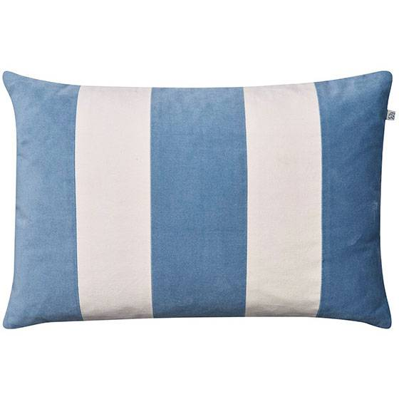 Chhatwal & Jonsson Stripe Debra Cushion Cover 40x60 cm, Heaven Blue/Ivory