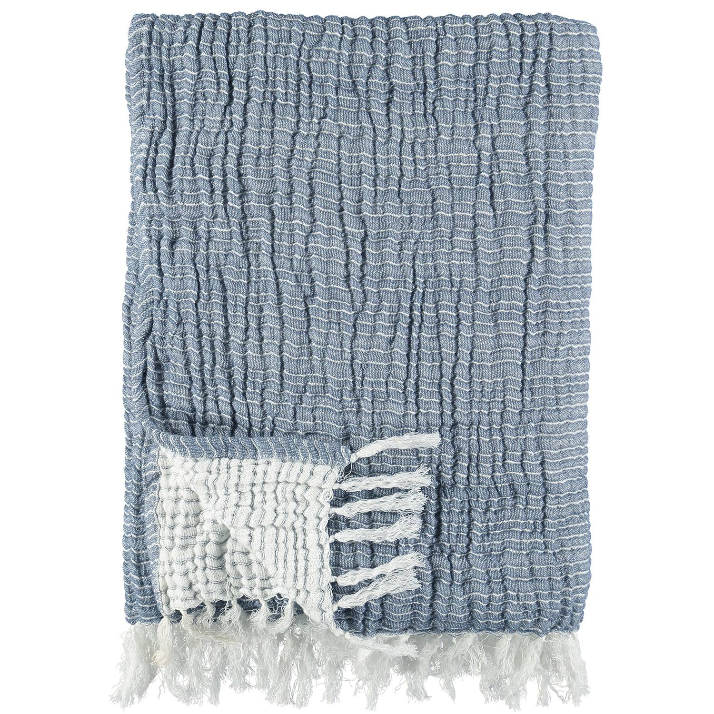 Gripsholm ACTIVE Washed Cotton Viltti, 130x170 cm, Vintage sininen