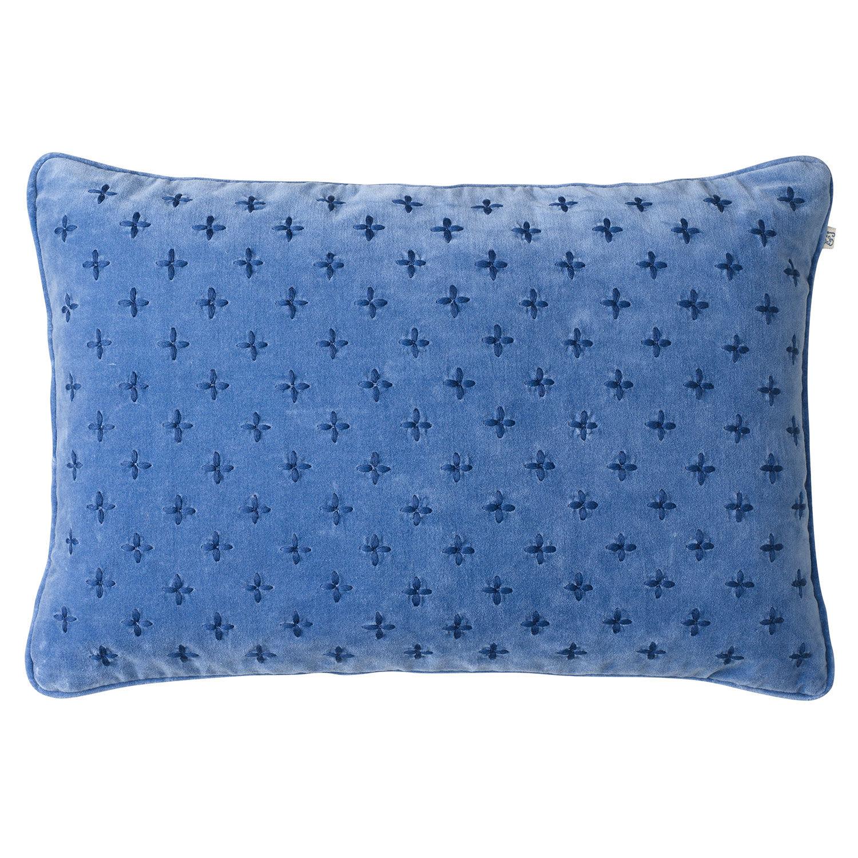 Chhatwal & Jonsson Cadi Velvet Tyynynpäällinen 40x60cm, Riviera/Blue