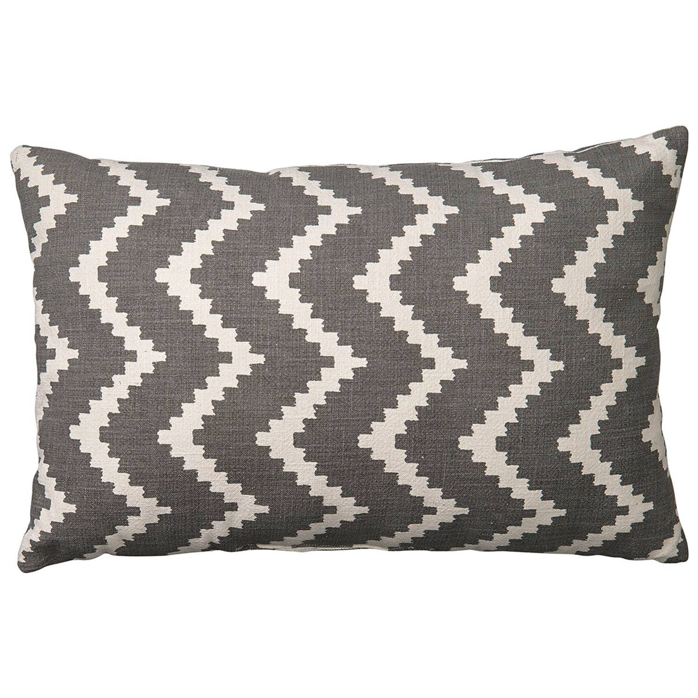 Chhatwal & Jonsson Ikat Sema Cushion Indoor/Outdoor 40x60 cm, Off White/Grey