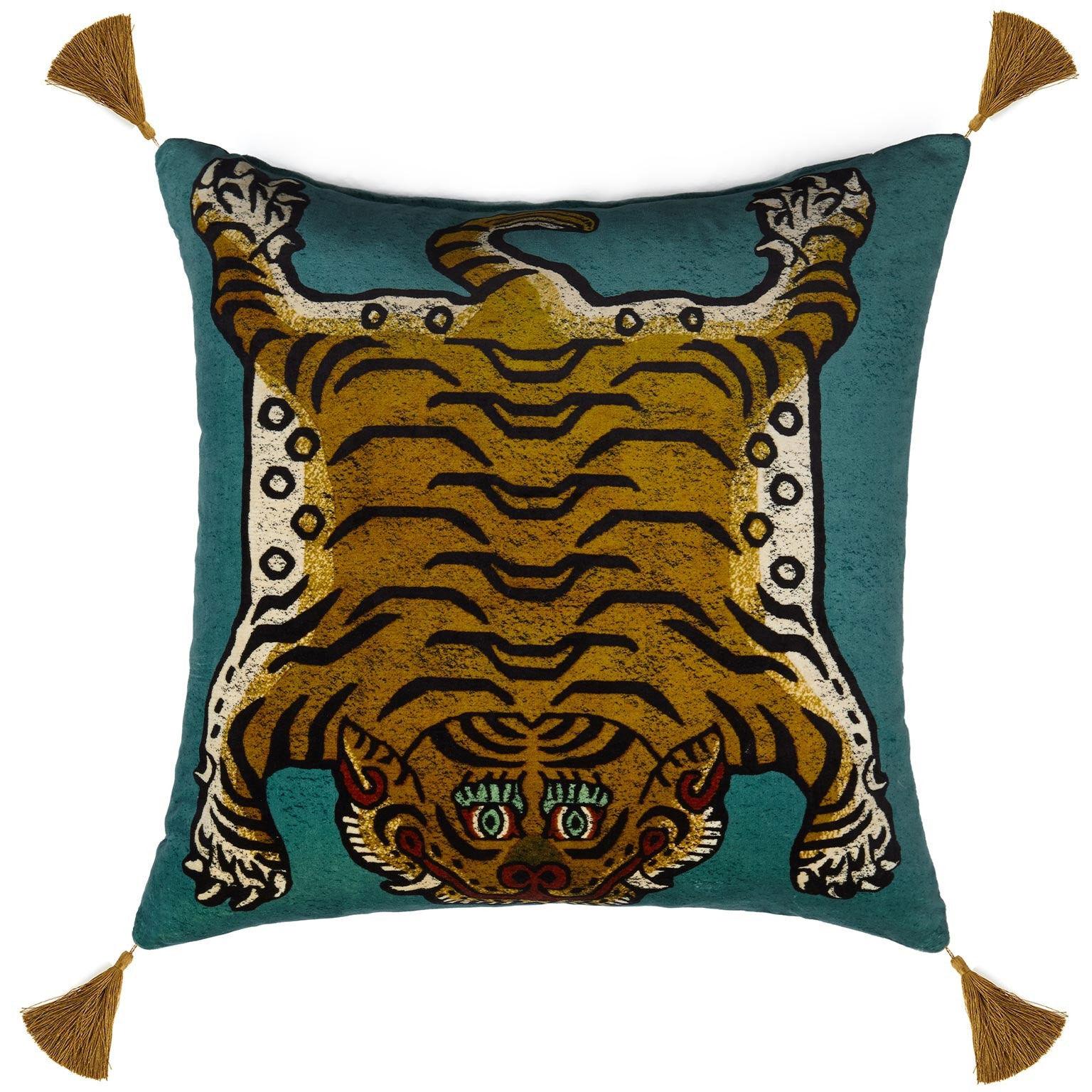 House of Hackney Saber Cushion Large, Teal