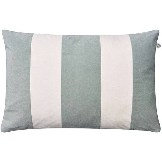 Chhatwal & Jonsson Stripe Debra Cushion Cover 40x60 cm, Aqua/Ivory
