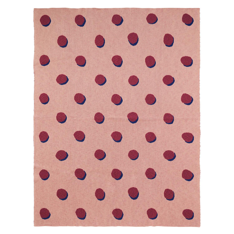 Ferm Living KIDS Double Dot Huopa, Vaaleanpunainen