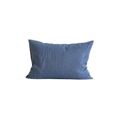 Tell Me More Linen Pillowcase 50x70 cm 2-pack, Navy Blue