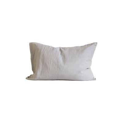 Tell Me More Linen Pillowcase 50x70 cm 2 pack, Light Grey