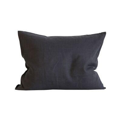 Tell Me More Linen Pillowcase 50x60 cm 2 pack, Carbon