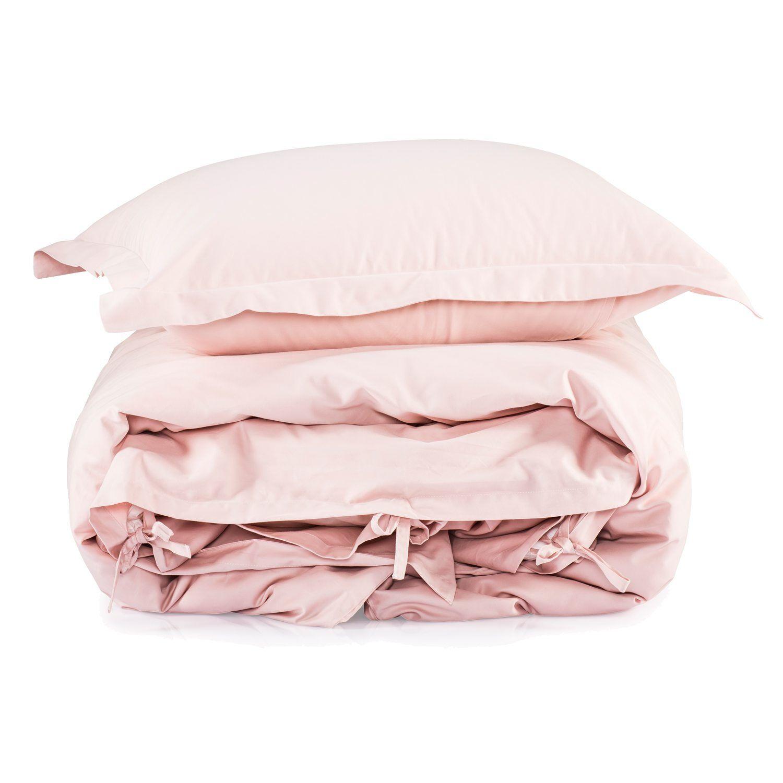 Mille Notti Satina Bed Set 220x220 cm, Light Pink