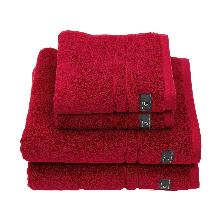 Gant Home Premium Terry Pyyheliina 70x140cm, Tummanpunainen