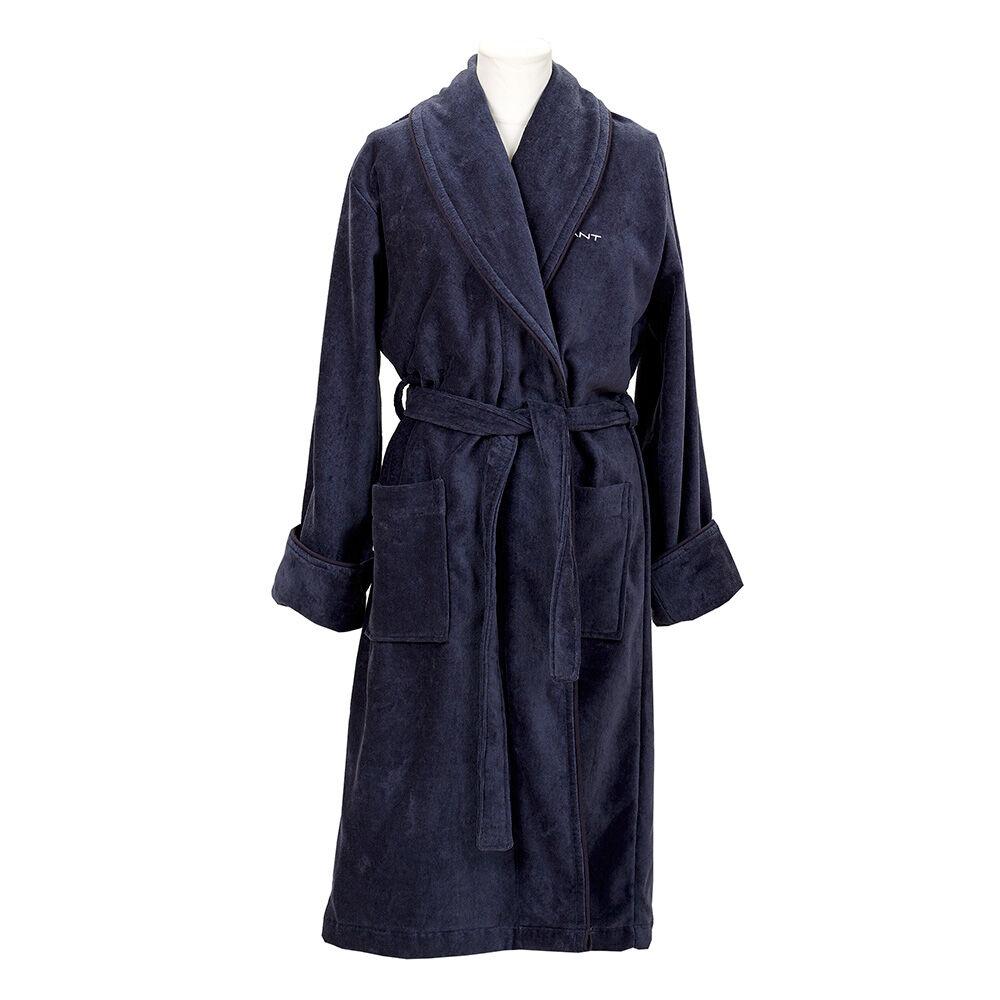 Gant Home Premium Velour Aamutakki L, Sateen Blue
