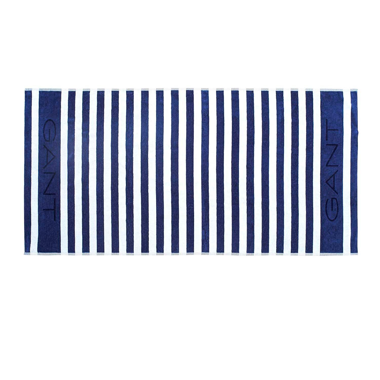Gant Home Rugby Beach Towel 100x180 cm, Poseidon Blue