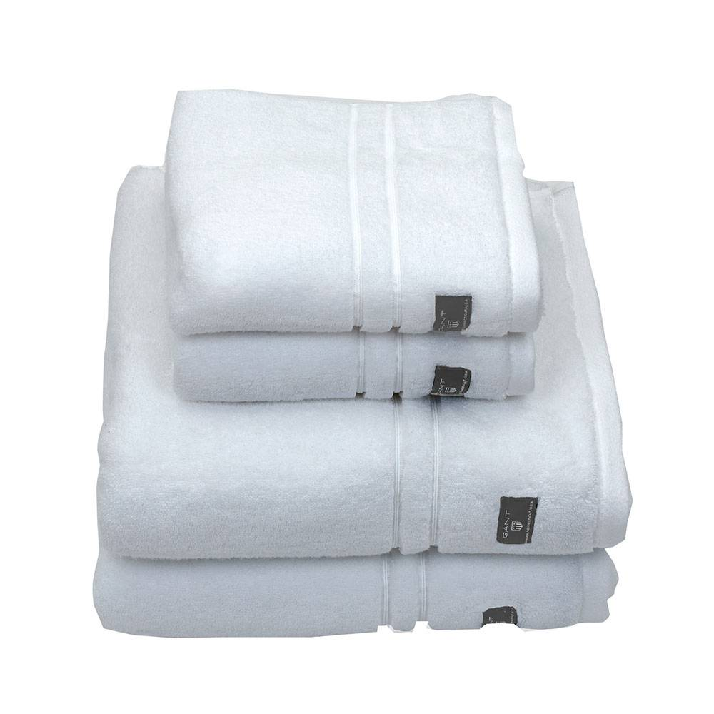 Gant Home Premium Terry Pyyheliina 50x30cm, Valkoinen