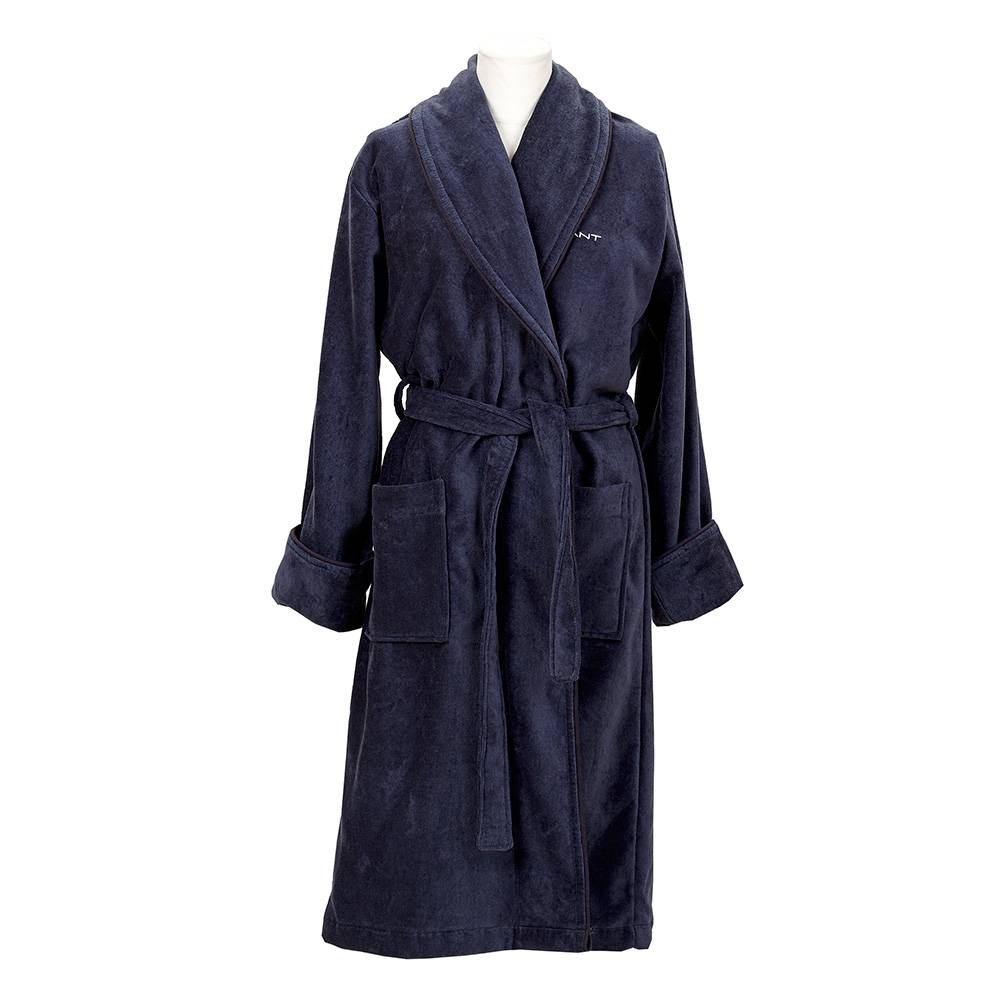 Gant Home Premium Velour Aamutakki XL, Sateen Blue
