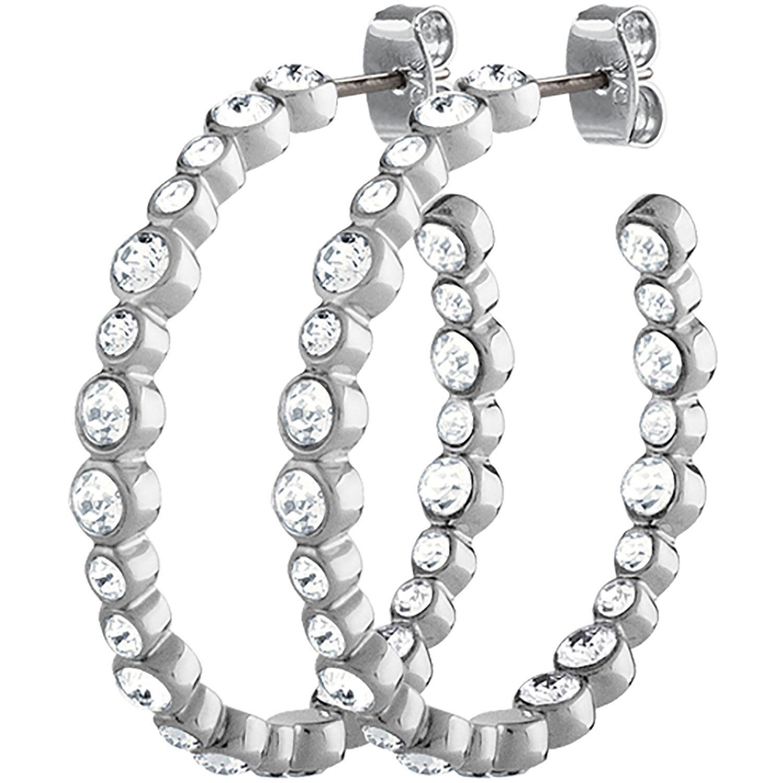 Dyrberg/Kern Nandita Earrings, Shiny Silver/White