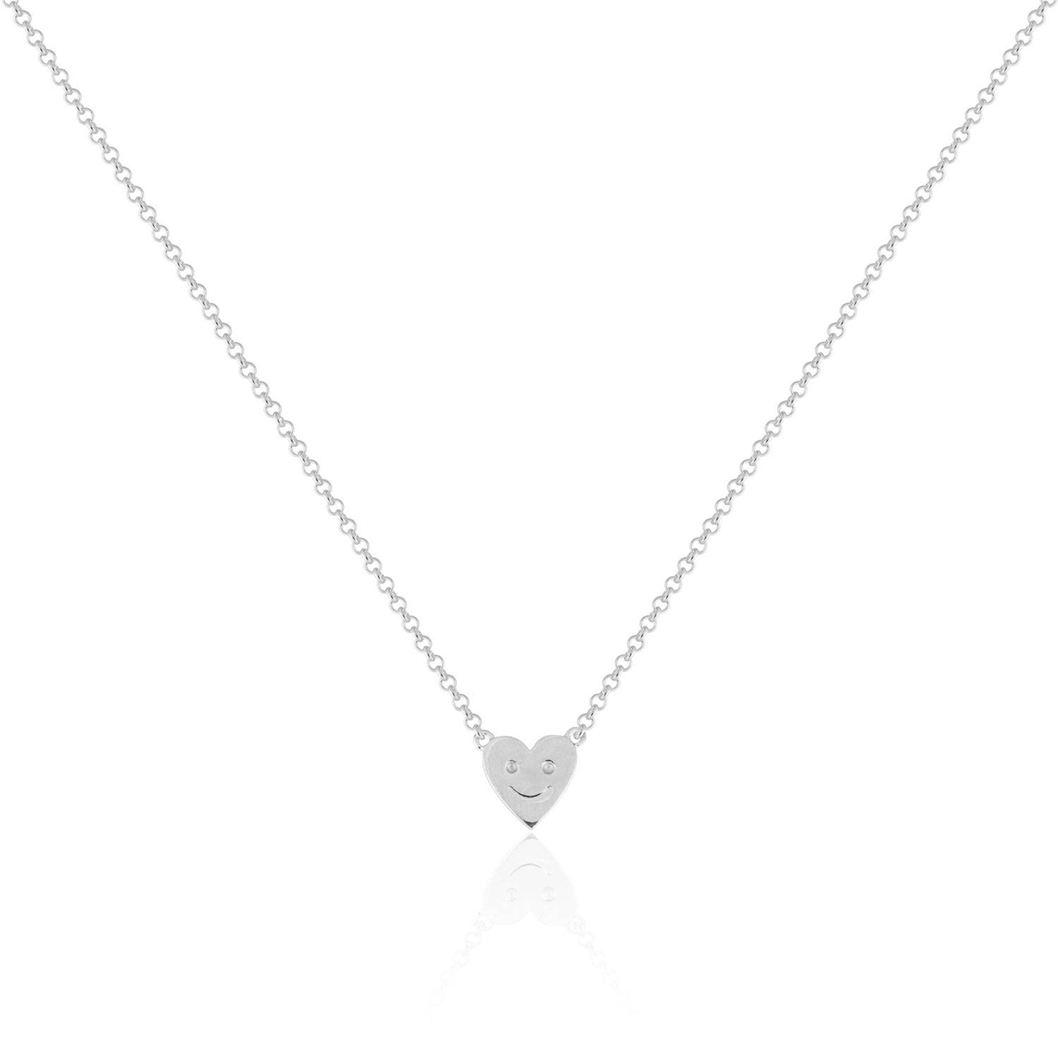 Sophie by Sophie Happy Heart Necklace, Silver