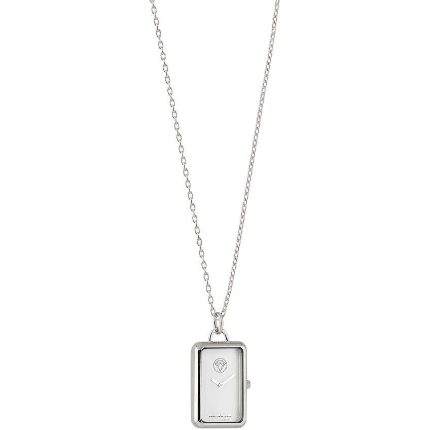 Emma Israelsson Watch Necklace, Silver/White