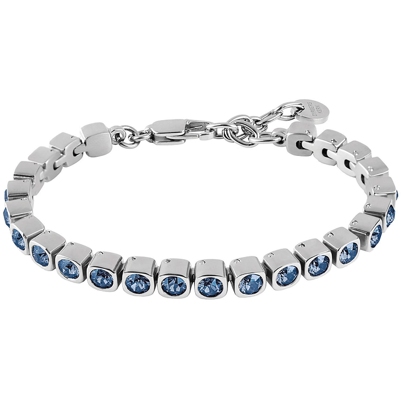 Dyrberg/Kern Cory Bracelet, Shiny Silver/Sky Blue