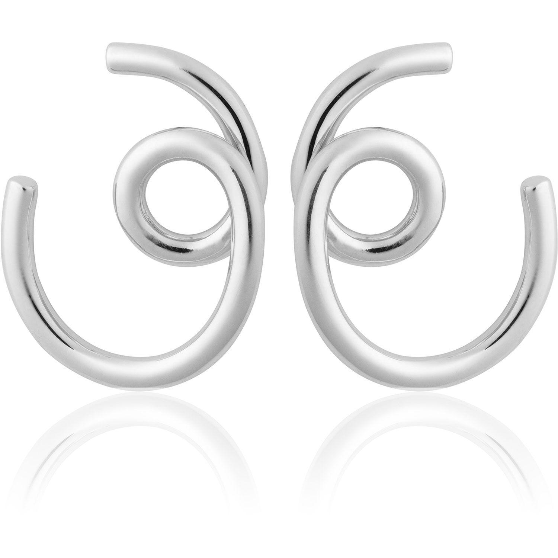 Sophie by Sophie Loopy Earrings Medium, Silver