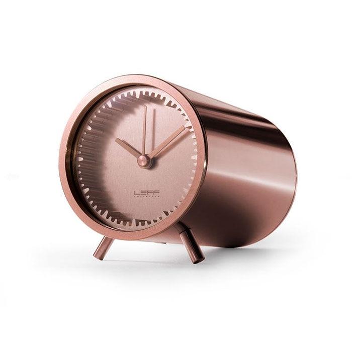 LEFF amsterdam Leff Tube Clock, Kuparipinnoitettu Teräs