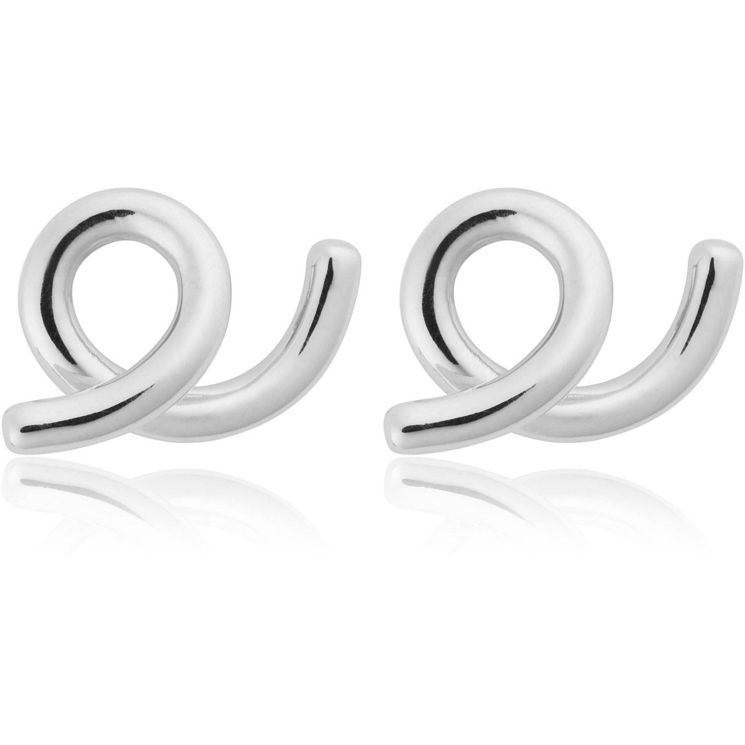 Sophie by Sophie Loopy Earrings Small, Silver