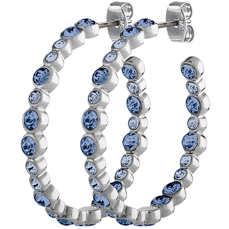 Dyrberg/Kern Nandita Earrings, Shiny Silver/Blue