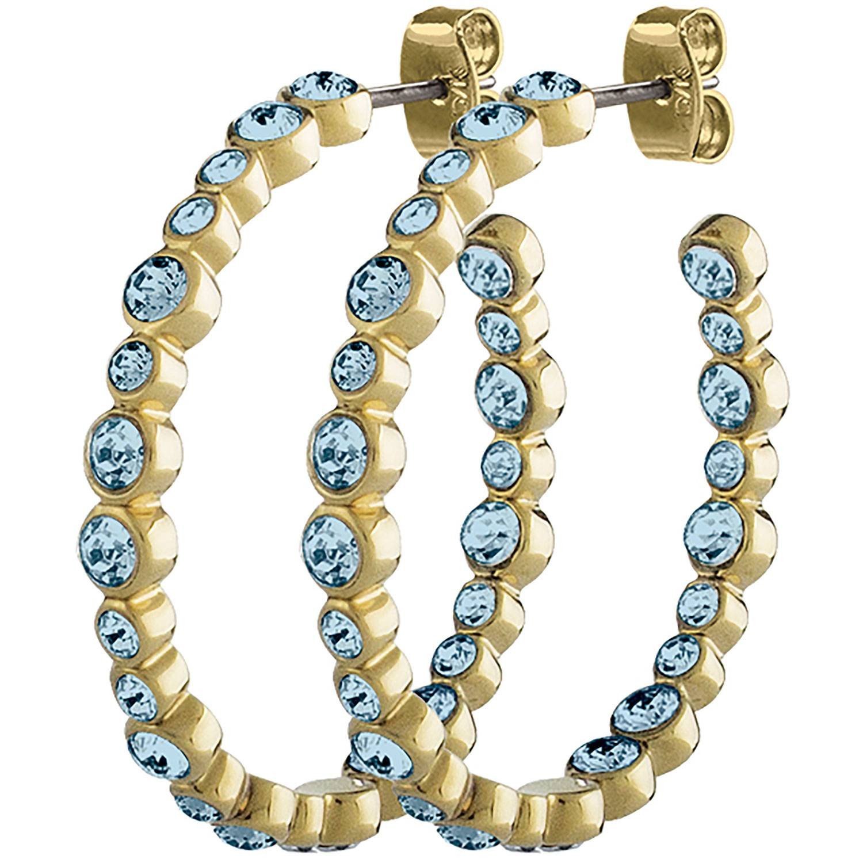 Dyrberg/Kern Nandita Earrings, Shiny Gold/Aqua