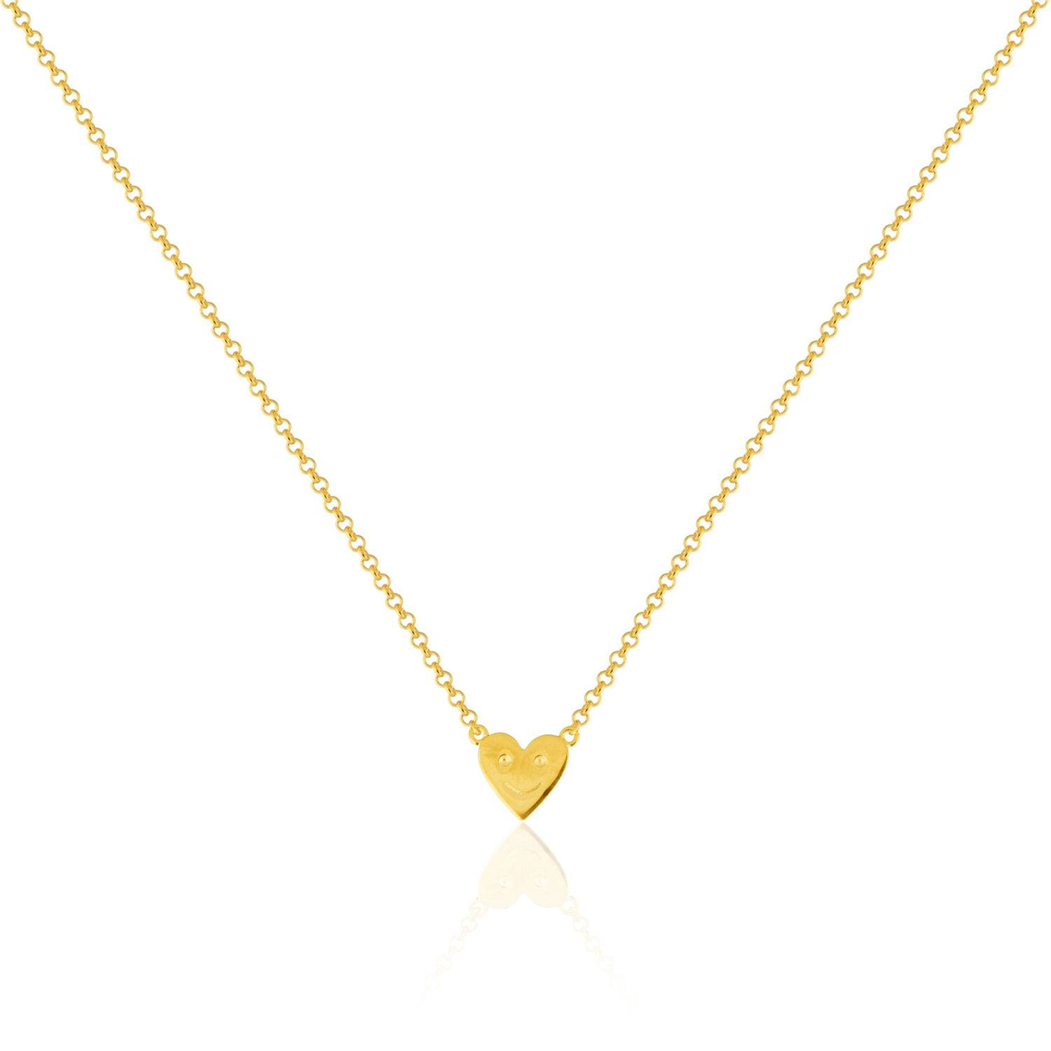 Sophie by Sophie Happy Heart Necklace, Gold