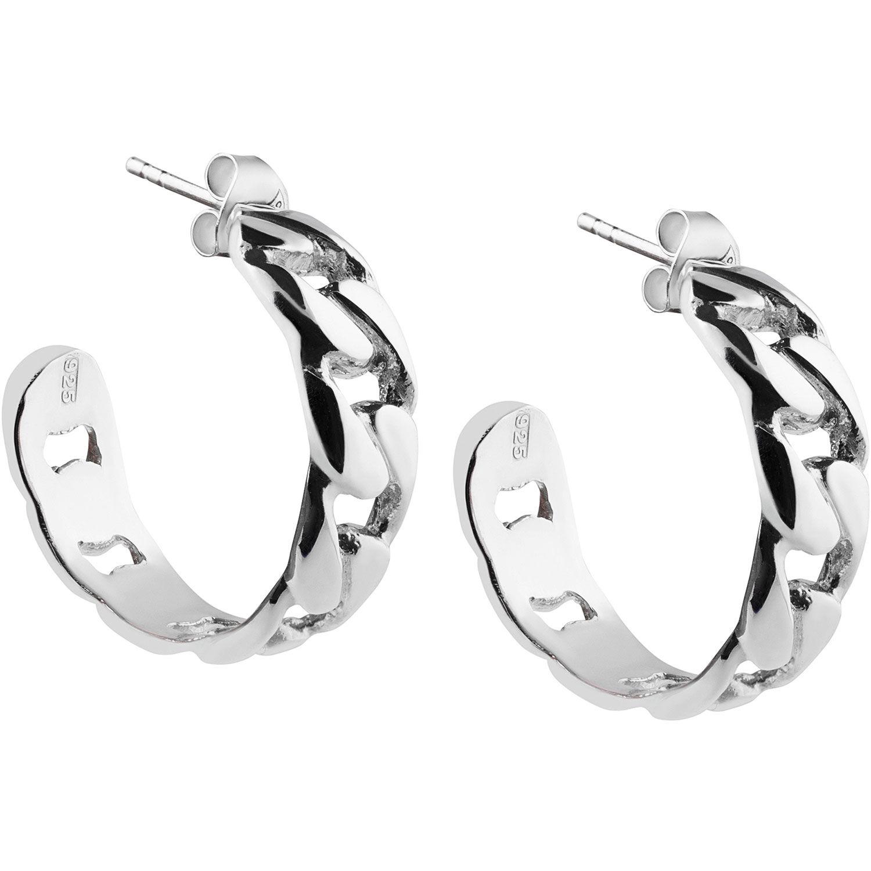 Emma Israelsson Link Earrings, Silver