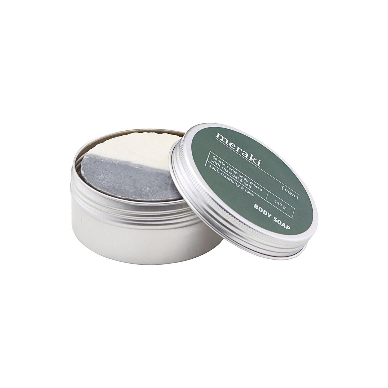 Meraki Body Soap 150g, Charcoal & Salt
