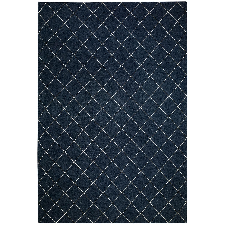 Chhatwal & Jonsson Diamond Matto 230x336cm, Sininen / Valkoinen