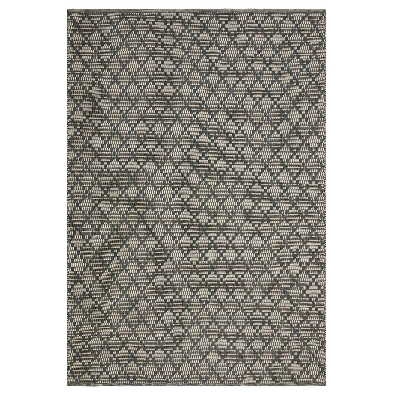Chhatwal & Jonsson Mitra Matto 80x50cm, Charcoal Grey/Light Khaki
