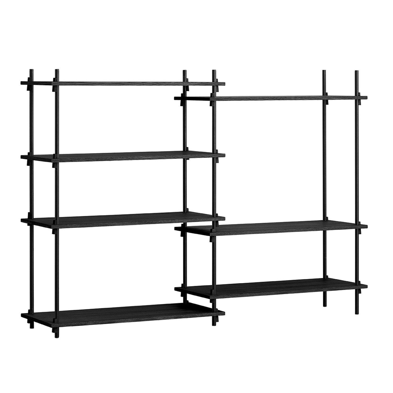MOEBE Shelving System Shelf Medium Double, Black