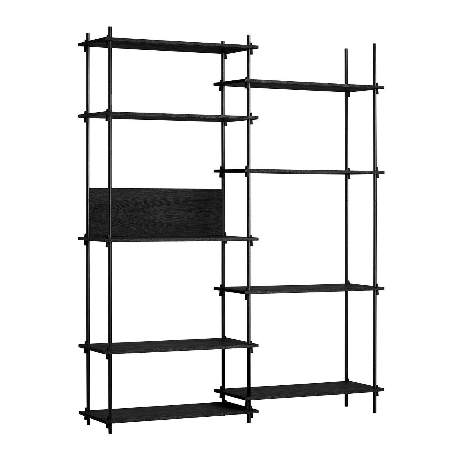 MOEBE Shelving System Shelf Tall Double, Black