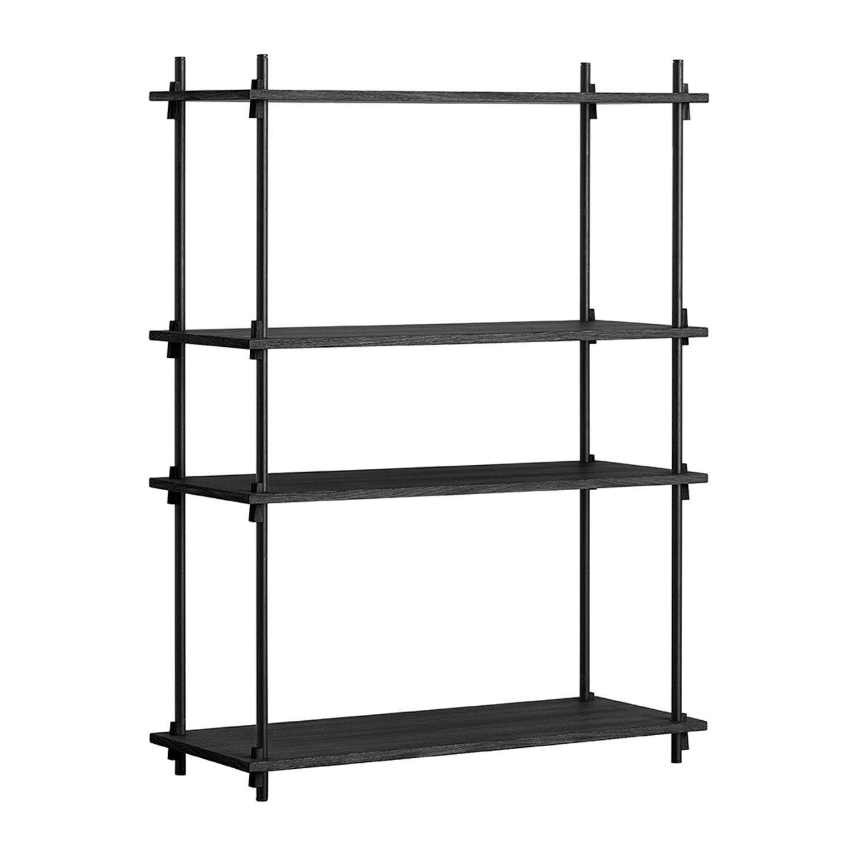 MOEBE Shelving System Shelf Medium Single, Black