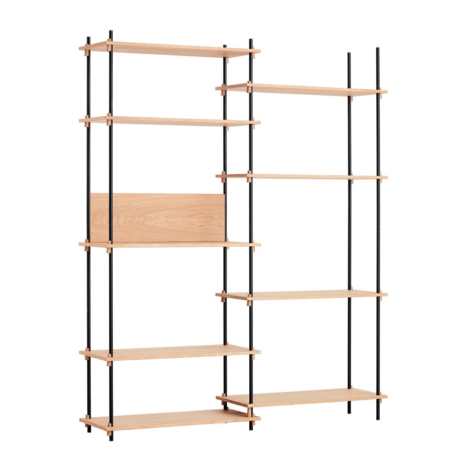 MOEBE Shelving System Shelf Tall Double, Oak
