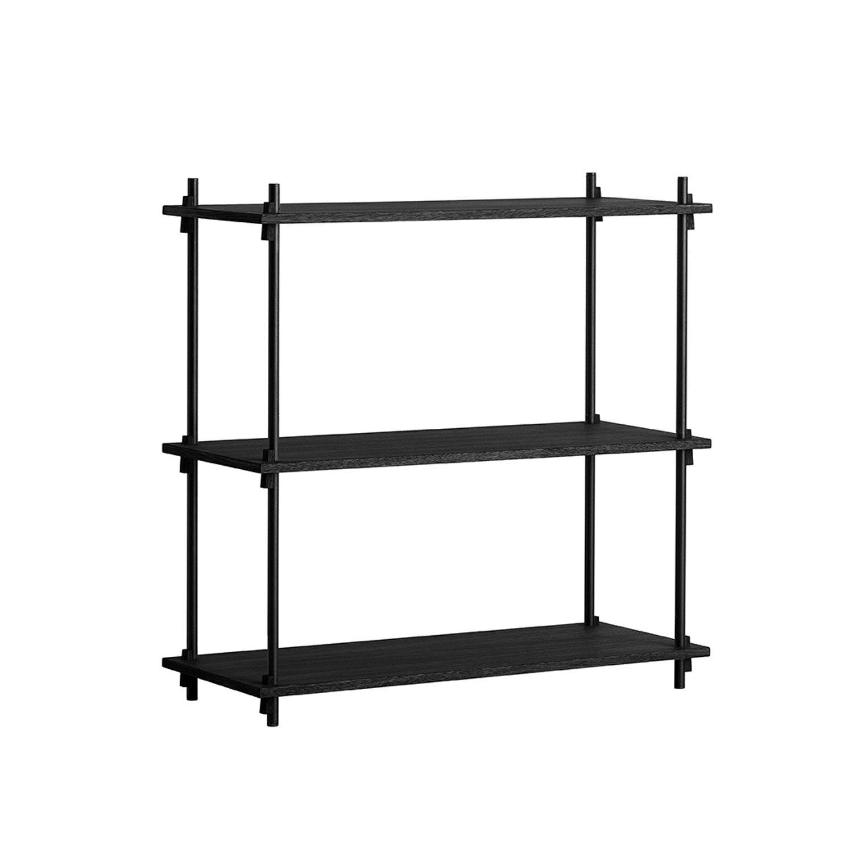 MOEBE Shelving System Shelf Low Single, Black