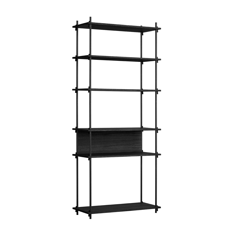 MOEBE Shelving System Shelf Tall Single, Black