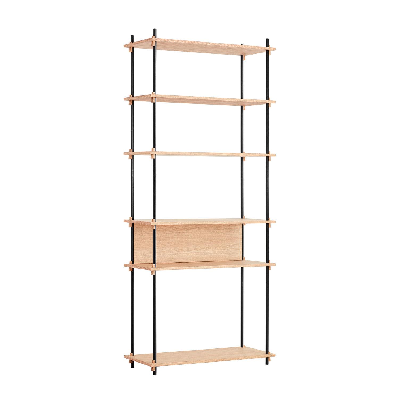 MOEBE Shelving System Shelf Tall Single, Oak